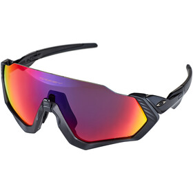 Oakley Flight Jacket Pyöräilylasit, polished black/prizm road